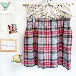 J. Crew factory sidewalk plaid mini skirt size 12